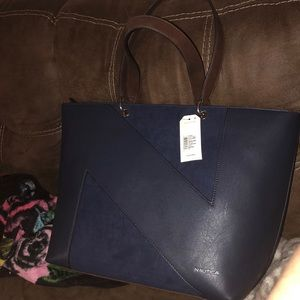 Nautical Large Navy Blue Handbag